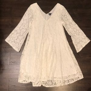 🍂FALL IVORY BELL SLEEVE DRESS